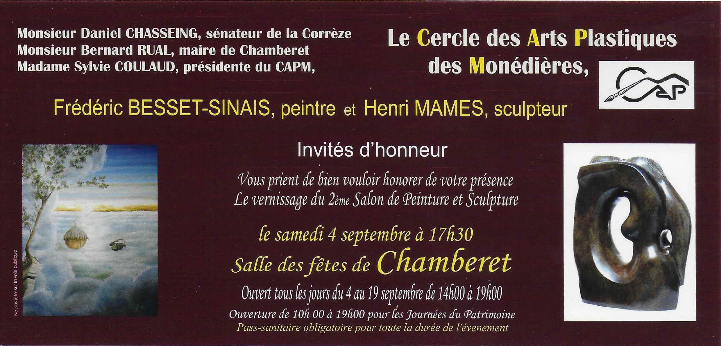 Invitation pass Chamberet 2021